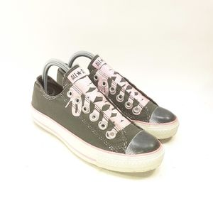 Converse Laceless Pink/Grey Women's Sneakers